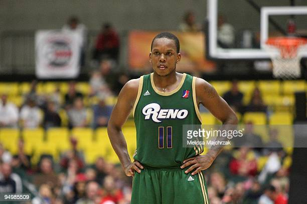 Russell Robinson of the Reno Bighorns takes a break from the action during the D-League game against the Utah Flash on December 11, 2009 at the McKay...