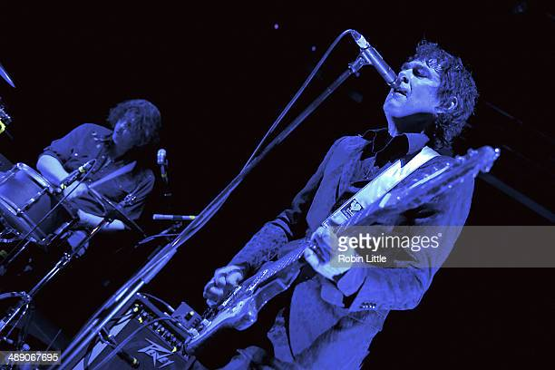 Russell Simins and Jon Spencer of Jon Spencer Blues Explosion perform on stage at KOKO on May 9 2014 in London United Kingdom