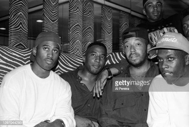 """Russell Simmons, actor Allen Payne and A Tribe Called Quest attend an album-release party for A Tribe Called Quest's """"The Low End Theory"""" on..."""