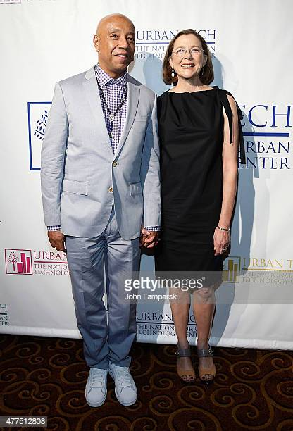 Russell Simmons and actress Annette Bening attend Breaking Barriers the 20th anniversary of the National Urban Technology Center Gala Awards Dinner...