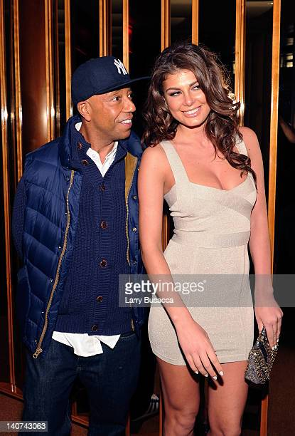 Russell Simmons and Angela Martini attend the after party for the Cinema Society People StyleWatch with Grey Goose screening of 'Friends With Kids'...