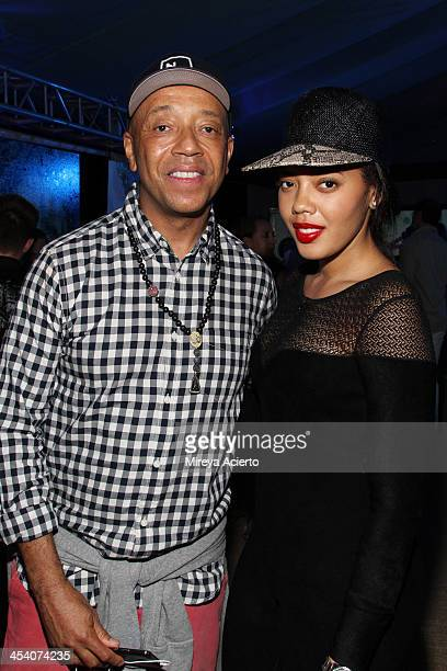 Russell Simmons and Angela Simmons at the Bombay Sapphire artisan series finale dinner at the Tent at Soho Beach House on December 6 2013 in Miami...