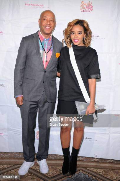 Russell Simmons and Angela Simmons attend the Rush HeARTS Education Luncheon at The Plaza Hotel on February 14 2014 in New York City