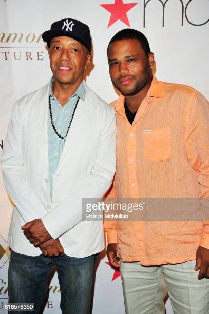 Russell Simmons and Anthony Anderson attend RUSSELL SIMMONS MACY'S celebrate RUSSELL SIMMONS ARGYLECULTURE FALL 2010 Menswear Presentation at...