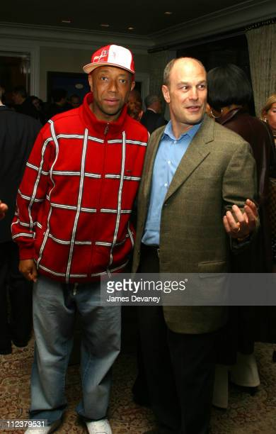 Russell Simmons and Barry Weiss during The Foundation for Ethnic Understanding Honors JayZ and Barry Weiss of Jive Records at Home of Denise Rich in...