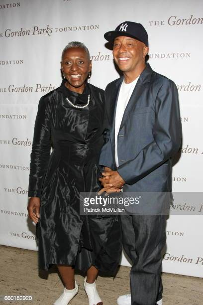 Russell Simmons and Beth Ann Hardison attend Celebrating Fashion Gala Awards Dinner to Support The GORDON PARKS Foundation at Gotham Hall on June 2...