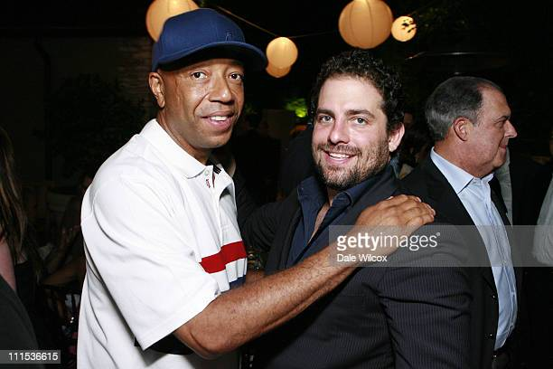 Russell Simmons and Brett Ratner during Brett Ratner Hosts a Party For The President Of The Dominican Republic at Private Residence in Beverly Hills...