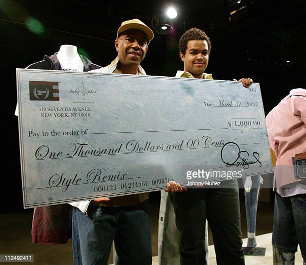 Russell Simmons and Christopher Satham, contest finalist