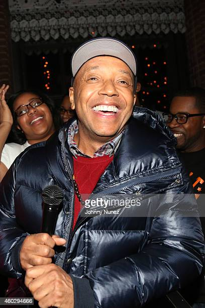 Russell Simmons and Erica Garner attend the Together We Stand Fundraiser for the family of Eric Garner at Hudson Common at the Hudson Hotel on...