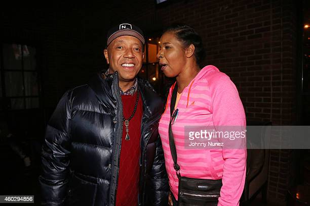 Russell Simmons and Esaw Garner attend the Together We Stand Fundraiser for the family of Eric Garner at Hudson Common at the Hudson Hotel on...