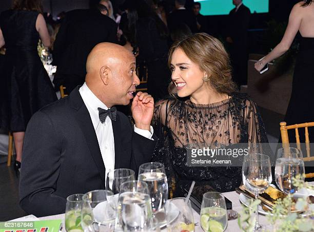 Russell Simmons and founder The Honest Company Jessica Alba attend the Fifth Annual Baby2Baby Gala Presented By John Paul Mitchell Systems at 3LABS...