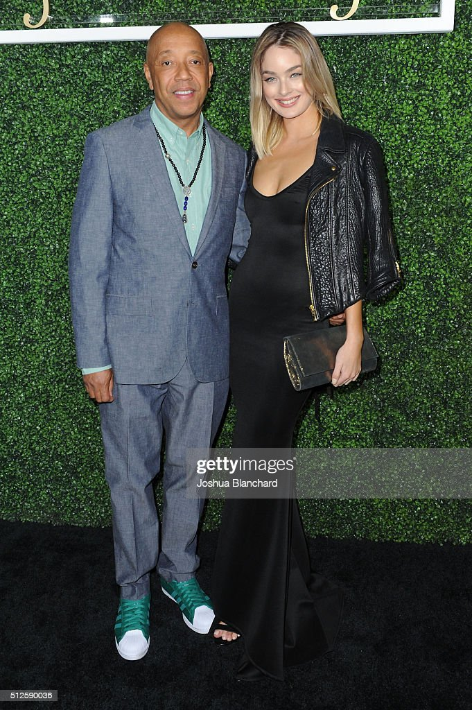 Russell Simmons (L) and guest attend Common's Toast to the Arts sponsored by Remy Martin at Ysabel on February 26, 2016 in West Hollywood, California.