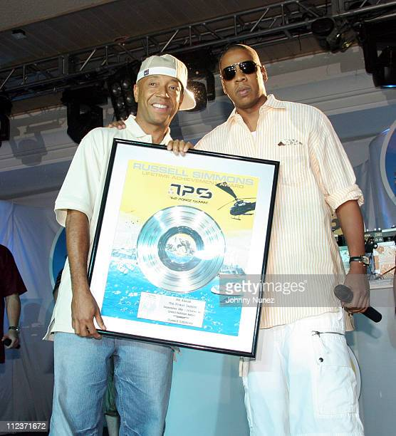 Russell Simmons and JayZ during Power Summit Presents Def Jam Annual Awards Dinner September 30 2005 at Westin Hotel in Freeport Bahamas