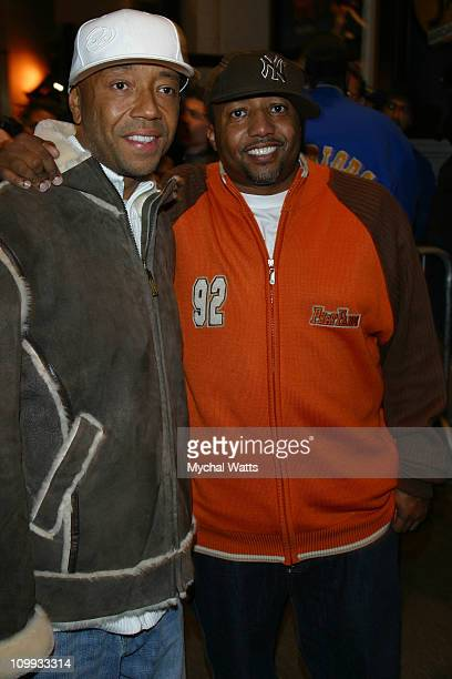 Russell Simmons and Kevin Liles during Russell Simmons's Def Poetry Jam on Broadway Arrivals in New York New York United States