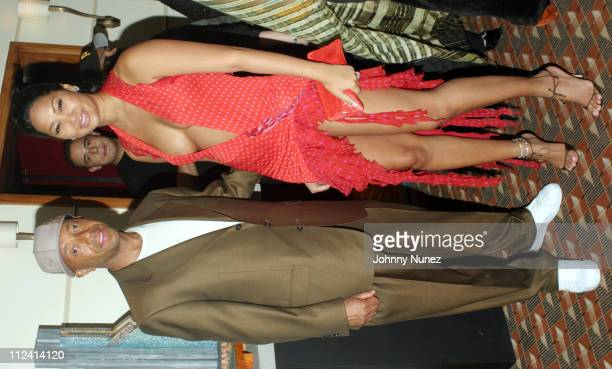 Russell Simmons and Kimora Lee Simmons during 2003 Tony Awards Russell Simmons' Tony Awards After Party at Shelley's Steak House in New York City New...