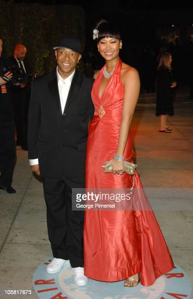 Russell Simmons and Kimora Lee Simmons during 2006 Vanity Fair Oscar Party Hosted by Graydon Carter Arrivals at Morton's in West Hollywood California...