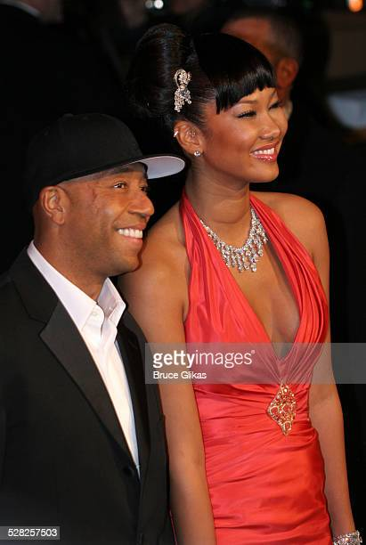 Russell Simmons and Kimora Lee Simmons during 2006 Vanity Fair Oscar Party at Morton's in West Hollywood California United States