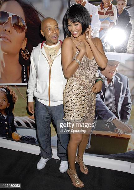Russell Simmons and Kimora Lee Simmons during Baby Phat and Phat Farm Fifteenth Anniversary at Tryste Nightclub February 14 2007 at Tryste in Las...