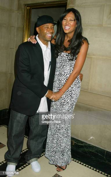Russell Simmons and Kimora Lee Simmons during The Accessories Council Presents the 8th Annual Ace Awards at Cipriani 42nd Street in New York City New...