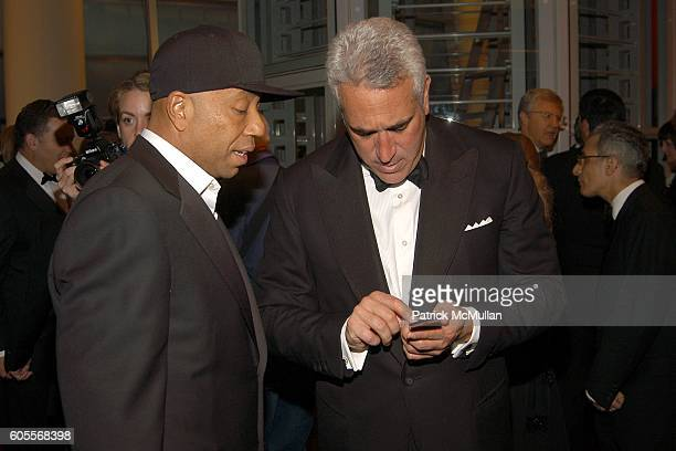Russell Simmons and Lawrence Stroll attend The WHITNEY MUSEUM OF AMERICAN ART's 15th Annual American Art Award at One Beacon Court Le Cirque on May...