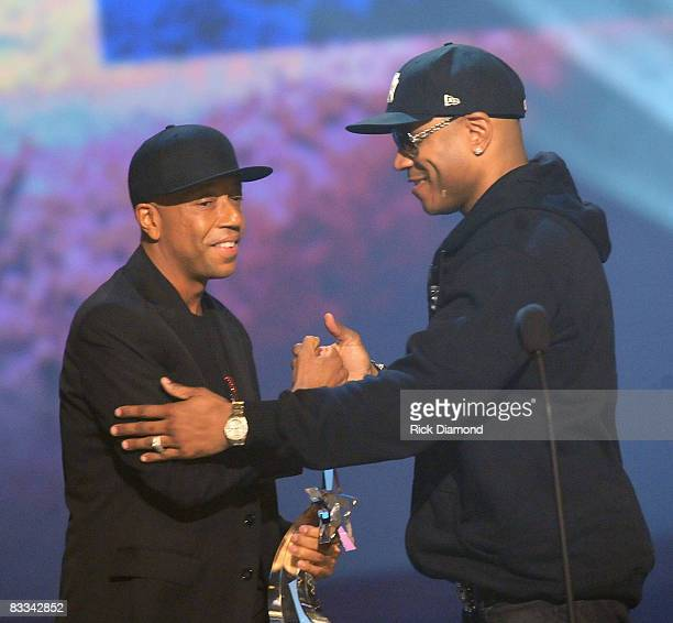 Russell Simmons and LL Cool J during the 2008 BET Hip-Hop Awards at The Boisfeuillet Jones Atlanta Civic Center on October 18, 2008 in Atlanta,...