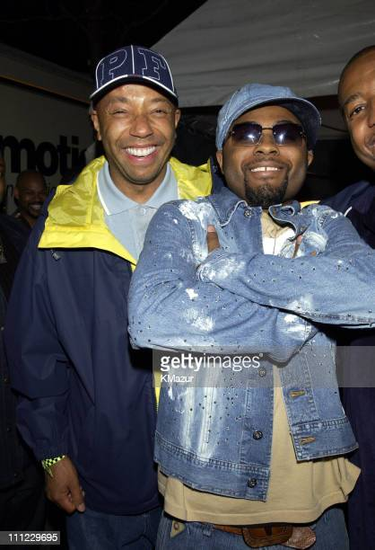 Russell Simmons and Musiq Soulchild during LIFEBeat's Urban AID 2 Benefit Concert at Beacon Theater in New York City New York United States