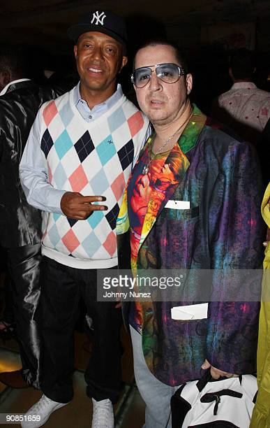 Russell Simmons and Noah G Pop attend Baby Phat KLS Collection Spring 2010 after party during MercedesBenz Fashion Week on September 15 2009 in New...