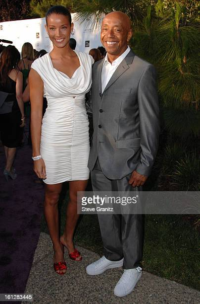 Russell Simmons and Porschla Coleman arrive at 7th Annual Chrysalis Butterfly Ball on May 31, 2008 at a Private Residence in Los Angeles, California.