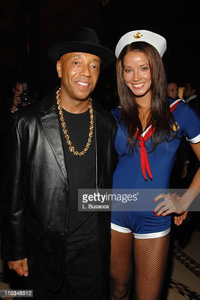 Russell Simmons and Porschla Coleman attend the Roberto Cavalli Vodka and Giuseppe Cipriani Halloween Party at Cipriani's 42nd Street on October 31,...