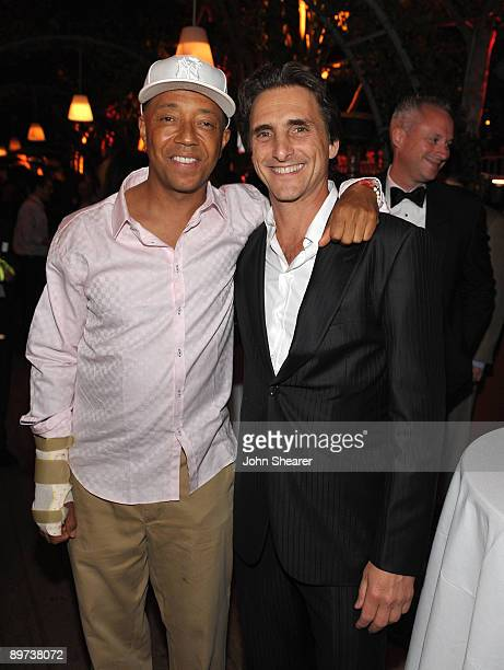 Russell Simmons and producer Lawrence Bender attend the Weinstein Co Presents Inglourious Basterds after party at the Mondrian Hotel on August 10...