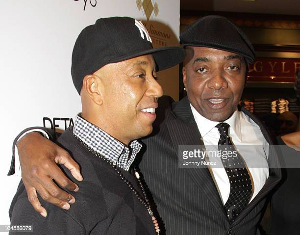 Russell Simmons and producer Michael Mauldin attend the grand opening of the Argyleculture Men's Shop at Macy's Herald Square on September 30 2010 in...