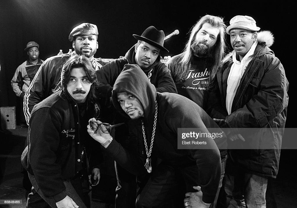 UNSPECIFIED - CIRCA 2000 Photo of Russell SIMMONS and Rick RUBIN and RUN DMC; with Rick Rubin & Russell Simmons
