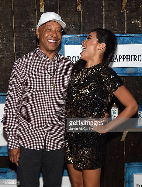 Russell Simmons and Rosario Dawson attend The 6th Annual Bombay Sapphire Artisan Series Grand Finale Cohosted By Russell Simmons And Rosario Dawson...