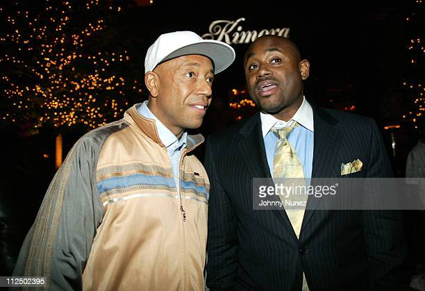 Russell Simmons and Steve Stoute during Kimora Lee Simmons Surprise Birthday Party at The New York Palace in New York City New York United States