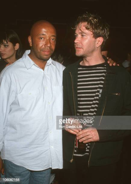 Russell Simmons and Timothy Hutton during Russell Simmons at The Palace in New York City - June 25, 1993 at The Palace in New York City, New York,...