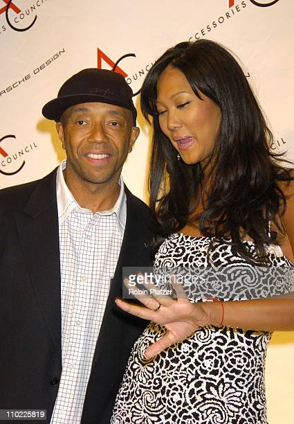 Russell Simmons and wife Kimora Lee Simmons during The Accessories Council Presents the 8th Annual Ace Awards at Cipriani 42nd Street in New York...