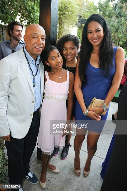 Russell Simmons Aoki Simmons Ming Lee Simmons and Kimora Lee Simmons attend the Foundation For Ethnic Understanding Benefit on August 14 2013 in West...