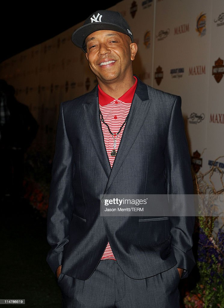 Russell Simmons arrives at the 11th annual Maxim Hot 100 Party with Harley-Davidson, ABSOLUT VODKA, Ed Hardy Fragrances, and ROGAINE held at Paramount Studios on May 19, 2010 in Los Angeles, California.