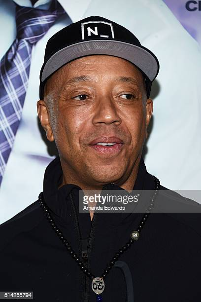 Russell Simmons arrives at the premiere of Lionsgate's The Perfect Match at ArcLight Hollywood on March 7 2016 in Hollywood California