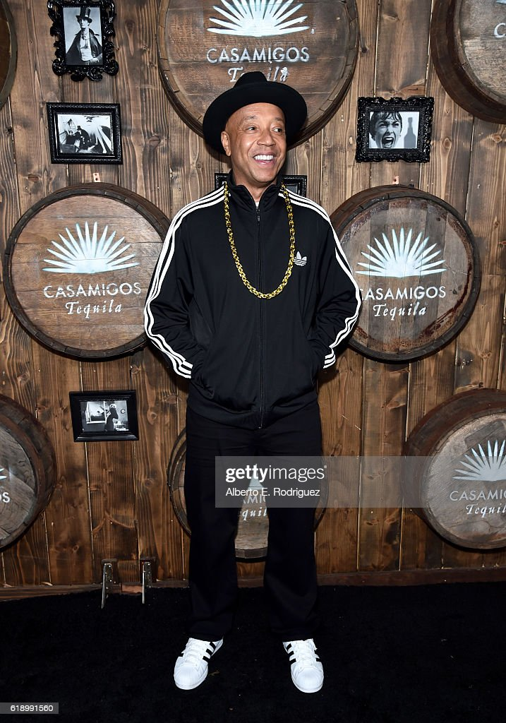 Russell Simmons arrives to the Casamigos Halloween Party at a private residence on October 28, 2016 in Beverly Hills, California.