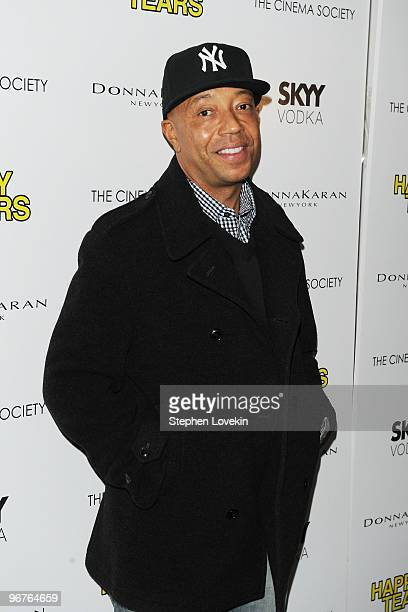 Russell Simmons attends a screening of Happy Tears hosted by the Cinema Society and Donna Karan at The Museum of Modern Art on February 16 2010 in...