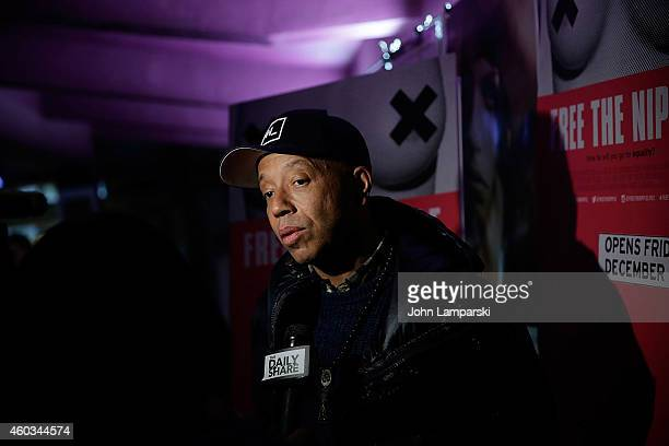 Russell Simmons attends Free The Nipple New York Premiere at IFC Center on December 11 2014 in New York City