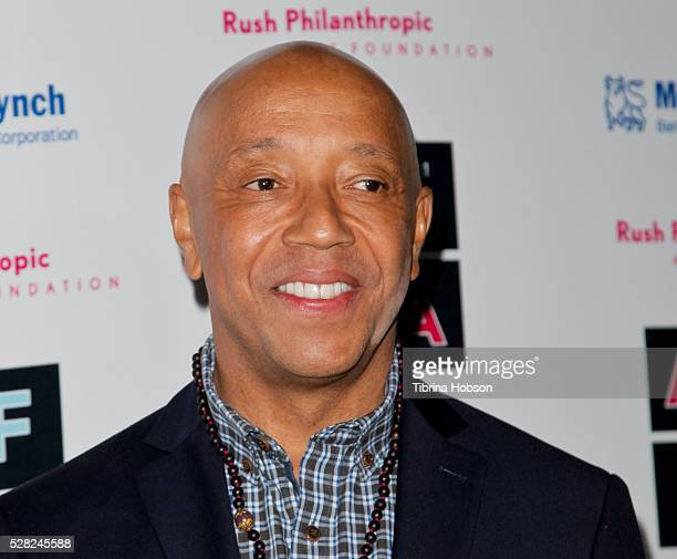 Russell Simmons attends Russell Simmons' Rush Philanthropic Arts Foundation's Inaugural Art For Life Celebration on May 3 2016 in West Hollywood...