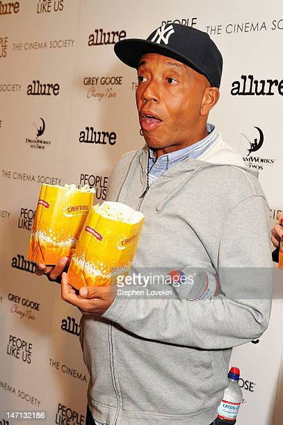 Russell Simmons attends the Cinema Society with Linda Wells Allure screening of DreamWorks Studios' People Like Us at Clearview Chelsea Cinemas on...