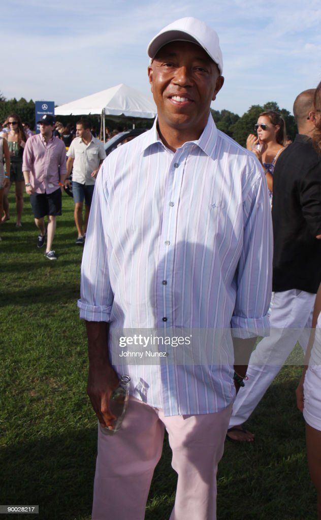 Russell Simmons attends the closing day of the Mercedes-Benz Polo Challenge at Blue Star Jets Field at Two Trees Farm on August 22, 2009 in Bridgehampton, New York.