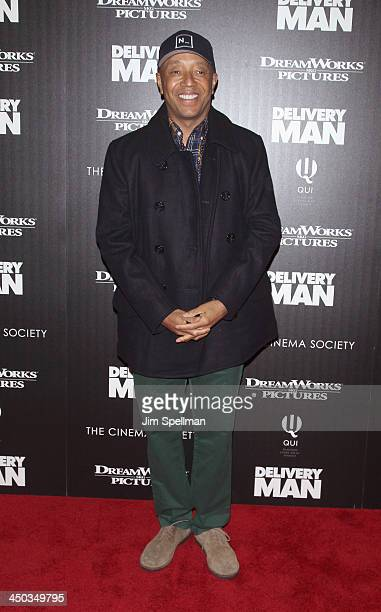Russell Simmons attends the DreamWorks Pictures and The Cinema Society screening of Delivery Man at Paley Center For Media on November 17 2013 in New...