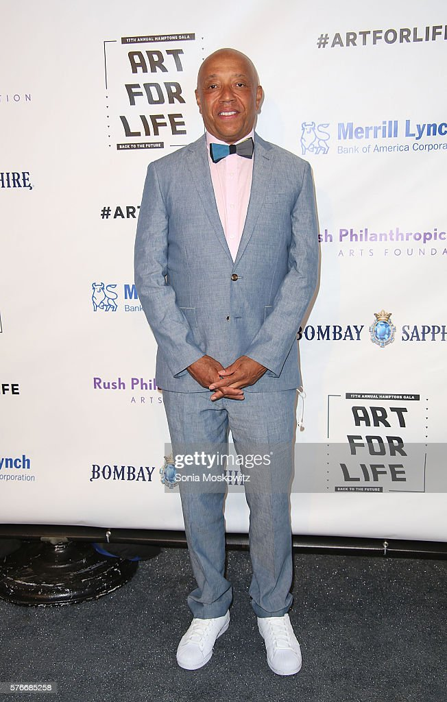 Russell Simmons attends the Rush Philanthropic Arts Foundation's Annual Art for Life Benefit at Fairview Farms on July 16, 2016 in Water Mill, New York.