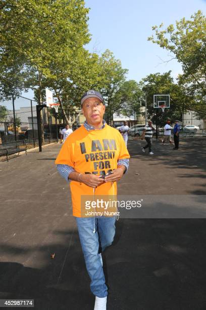 Russell Simmons attends the RushCard Keep The Peace Event on July 31 2014 in the Queens borough of New York City