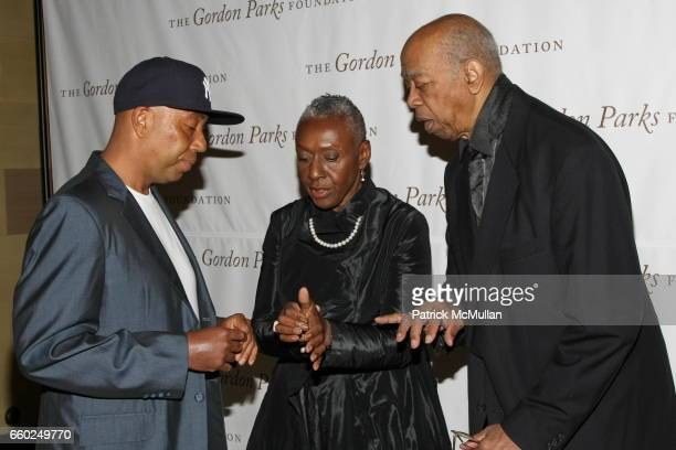 Russell Simmons Beth Ann Hardison and Geoffrey Holder attend Celebrating Fashion Gala Awards Dinner to Support The GORDON PARKS Foundation at Gotham...