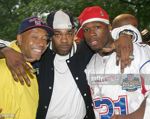 Russell Simmons Busta Rhymes and 50 Cent